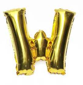"40"" letter Gold Helium Foil Balloon"