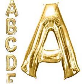 Jumbo Letter A - Metallic Golden