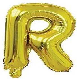 Jumbo Letter R - Metallic Golden