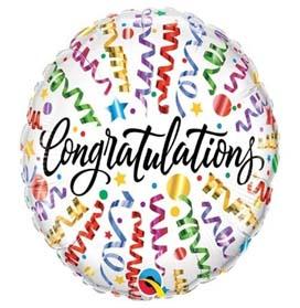 Congratulations Stars Helium Foil Balloon